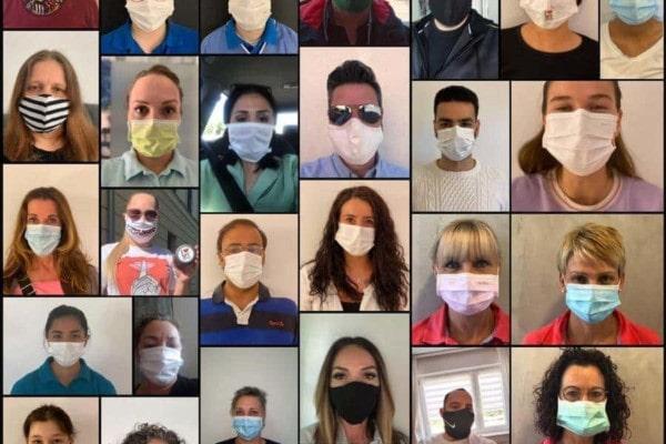 Menschen mit Gesichtsmasken