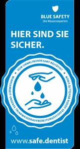 Blue Safety Siegel. Klicken zum Vergrößern.