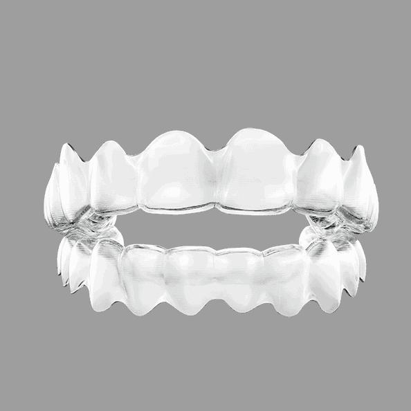Durchsichtige Zahnspange Invisalign Clear Aligner von ilovemysmile.de